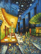 Vincent Van Gogh cafe terrace at night large oil painting canvas reproduction