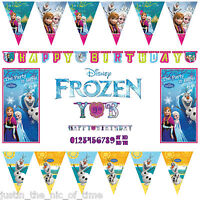 Disney FROZEN Princess Anna OLAF Birthday Party Decorations BUNTINGS & BANNERS
