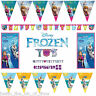 FROZEN BUNTINGS & BANNERS Decorations Princess Anna Elsa OLAF Birthday Party