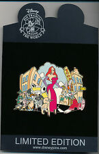 DISNEY Jessica and Roger Rabbit STORYBOOK JUMBO LE 500 Pin New On Card Toontown