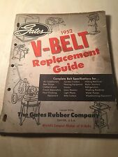 1952 Gates V Belt Replacement Catalog Guide Book