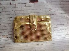 vintage gold leather & chainmail purse coin purse mini clutch