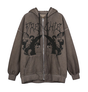 Grunge Streetwear Dark Angel Harajuku Zip-up Hoodie. Free Shipping Worldwide!