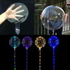 5Pcs US LED Light Transparent Balloon Colorful Wedding Birthday Xmas Party Decor