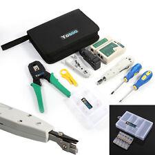 Network Internet LAN Kit RJ45 Cat5e Tester Crimper Repair Tool Set Punchdown