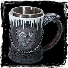 Game of Thrones Krug - Haus Stark - GoT Geschenkbox Fantasy Bierkrug Geschenk