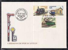 A 60 ) Luxemburg 2005 toller FDC mit Historische Eisenbahnen