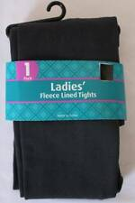 NEW Womens Fleece Lined Tights Solid Charcoal Soft Stretch One Size Regular OSFM