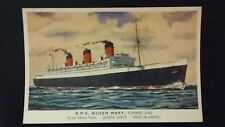 R.M.S Queen Mary, Cunard Line  Colour Postcard. Unposted.