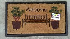 Welcome Bench - Natural Coir on Recycled Rubber Door Mat