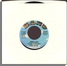 "Paul Davis - Sweet Life + Bad Dream - 1977 Bang 7"" 45 RPM Single!"