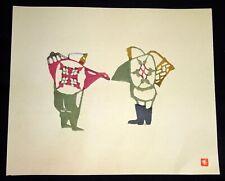 1960s Japanese Woodblock Print Two Farmers Inagaki Toshijiro (1902-1963)(Fuj)
