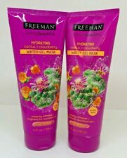 Lot of 2 FREEMAN Hydrating Cactus & Cloudberry Water Gel Leave-On Mask 6 oz Each