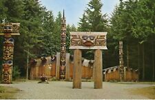Haida Indian Village BC British Columbia Totem Pole Poles First Nations Postcard