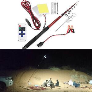 5M 3000LM Telescopic Light Fishing Rod Holder LED Lantern Lamp Camping Light Car