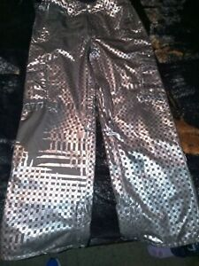 BURTON DRYRIDE silver/checkers mesh lining  Snowboard Pants     Sz M the White C