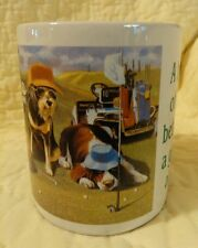"""Leanin Tree """"Bad Day Golfing"""" Cats Dogs coffee cup mug collectible"""