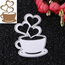 Heart Coffee Cutting Dies Stencil DIY Scrapbooking Album Card Embossing Craft
