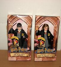 New 2001 Harry Potter & Sorcerer's Stone Hogwarts Heroes Harry & Hermione Dolls