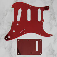Red Mirror SSS 11 Holes Pick Guard & Back Plate Tremolo Cover for Strat Guitar