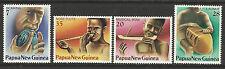 PAPUA NEW GUINEA 1979 MUSICAL INSTRUMENTS 4v MNH