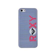 COQUE ROXY IPHONE 4 4S RAYURES BLEU & BLANC SILICONE RIGIDE (TPU)