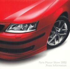 SAAB 93 9-3 Sport Limousine Cabrio 95 9-5 Pressemappe Media Press Kit 2002 AR