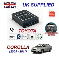 Music Streaming Bluetooth Telephone Toyota Corolla Charger 2xUSB AUX SD Module 6