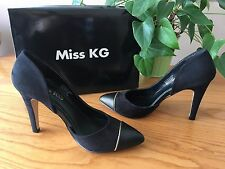 Miss KG Kurt Geiger Sophie black suedette court shoes UK 4 EU 37 BNIB RRP £65