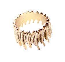 Rustic Unique Leaf Retro Inspired Unisex Gold Tribal Statement Ring(Ns8)