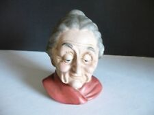 "Gray Haired Old Lady head figurine Lefton, Japan 5809. About 5"" tall by 3"" wide"