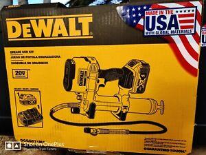 DeWalt 20V Variable Speed Max Lithium Ion Grease Gun Tool Kit DCGG571M1 USA!!!