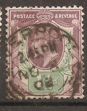 Uk-Great Britain-1902/10-Edward Vii-1 1/2 P- Violet & Green-Y&T nr108-used stamp