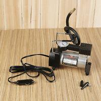 Portable 12V Metal Car Van Air Compressor Compact Electric Tyre Inflator Pump