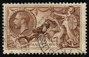 George V 1913 2s.6d. sepia-brown, used (SG#400)