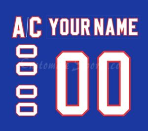 AHL Rochester Americans Customized Number Kit for 2009-Present Blue Jersey