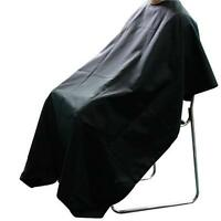 Professional Hairdressing Salon Cutting Barbers Gown Cape Cover - Black
