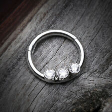 Sparkle Trio Seamless Clicker Ring