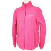 Columbia Womens Sweater Pink Full Zip Pockets Turtleneck Fleece Active Jacket L