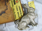 Vintage GRISWOLD CAST IRON RABBIT CAKE MOLD WITH TAG & BOX 862