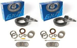 """1979-1985 Toyota Pickup 8"""" 4cyl 4.88 Ring and Pinion Front Rear Elite Gear Pkg"""