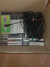 Playstation 2 mit 19 Spielen, 3 Controllern, 2 Mikrofone und 1 Memorycard