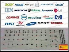 Pegatinas teclado español PORTATIL color BLANCO ASUS, ACER, HP, MAC, SONY, TOSHI