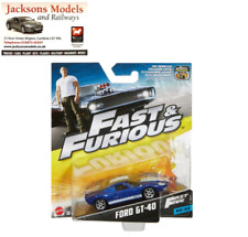 Hot Wheels FCN88 Ford GT-40 Blue Fast & Furious Five Mattel 2017 1:55 Scale