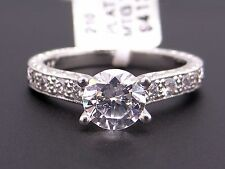 Scott Kay Platinum Round Diamond Engagement Promise Ring M1113 Semi Mounting