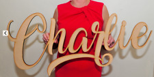 Personalised Wooden Name Large Wall Sign LOGO Room Decor Nursery Plaque Word