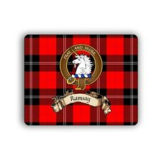 Ramsay Scottish Clan Mousepad Tartan Crest Motto Computer Mouse Mat