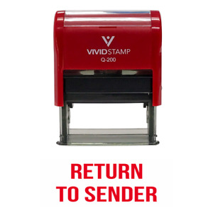 Return To Sender Classic Self Inking Rubber Stamp (Red Ink) Medium