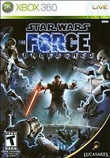 Star Wars: The Force Unleashed (Microsoft Xbox 360, 2008) Case & Manual