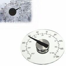4.33 Inch Thermometer Transparent Round Circular Window Temperature Thermograph